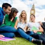 Students studying in London